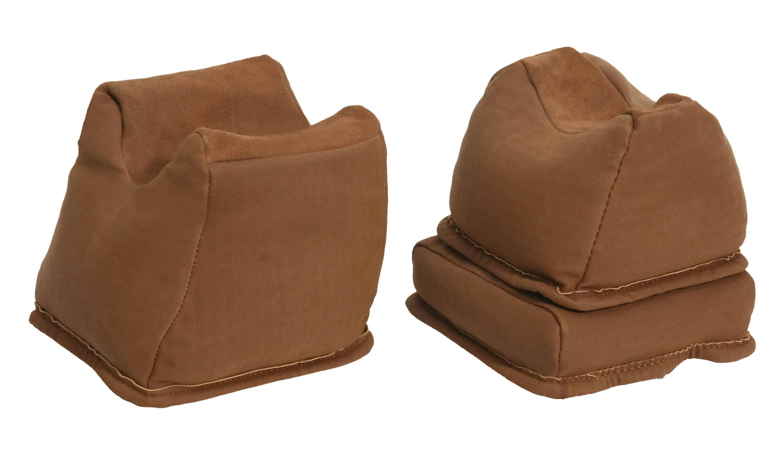 The Outdoor Connection NuBuc Suede Brown 3 Piece Bench Rest Bag Trio (Filled)