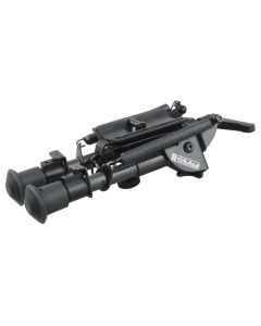Rokstad 6-9 inch Swivel Bipod for Q/D Swivel with Lever Lock and  Carbon Fibre Legs