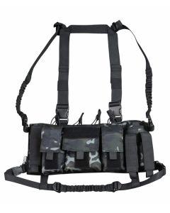 Kombat UK Trojan Chest Rig - BTP Black - Optics Warehouse