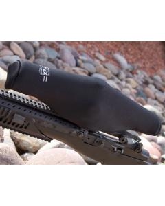 "ScopeCoat Black XP-6 Flak Jacket Medium 8.5""x 40mm 6mm Neoprene Scope Cover Protective Jacket"