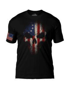 7.62 Design Betsy Ross Flag Skull T-Shirt