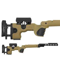 GRS Adjustable Stock, Warg Tikka T3/X Left Hand SA Brown Optics Warehouse