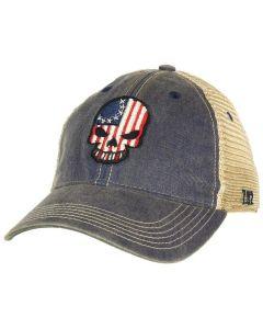7.62 Design Betsy Ross Skull Trucker Cap Navy