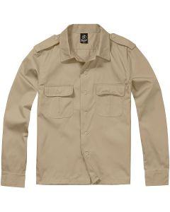 Brandit US Shirt Long Sleeve - Beige