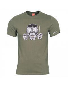 Pentagon Gas Mask T-Shirt - Olive
