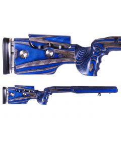 GRS Adjustable Stock, Hybrid Howa M1500 Short Action Right Hand Black/Blue Optics Warehouse