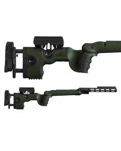 GRS Adjustable Stock, Warg Tikka T3/X Left Hand SA Green Optics Warehouse