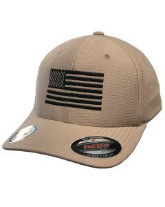 7.62 Design FlexFit Cool/Dry Flag Hat Khaki