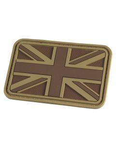 Hazard 4 Union Jack / UK Flag Morale Patch - Coyote