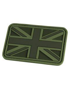 Hazard 4 Union Jack / UK Flag Morale Patch - OD Green