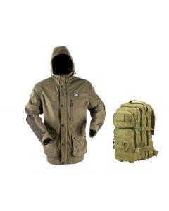 Ridgeline Pintail Waterproof & Windproof Explorer Jacket - Teak
