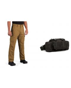Propper RevTac Tactical Pant - Coyote with Free Territory Supply 5.5L Tactical Waist Bag