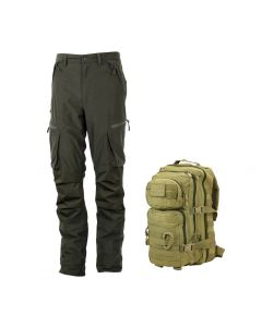 Ridgeline Pintail Explorer Pants - Olive + FREE KOMBAT UK 28 LITRE ASSAULT PACK (RRP £29.95)