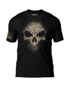 7.62 Design USMC Desert Marpat Skull Black T-Shirt