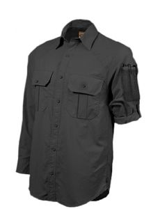 Hazard 4 Colonial Safari Stretch Patch Shirt - BLK