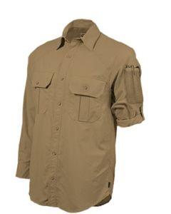 Hazard 4 Colonial Safari Stretch Patch Shirt - TAN