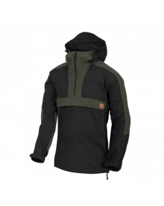 Helikon Woodsman Anorak Jacket - Black / Taiga Green