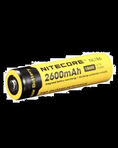 Nitecore 2600mAh 18650 Pip Top Rechargeable Battery
