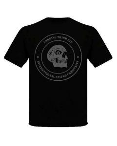 Smoking Third Eye International Sniper Community T-Shirt - Grey on Black w/Union Jack