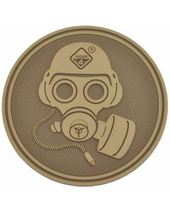 Hazard 4 Special Forces Gas Mask Morale Patch - Coyote