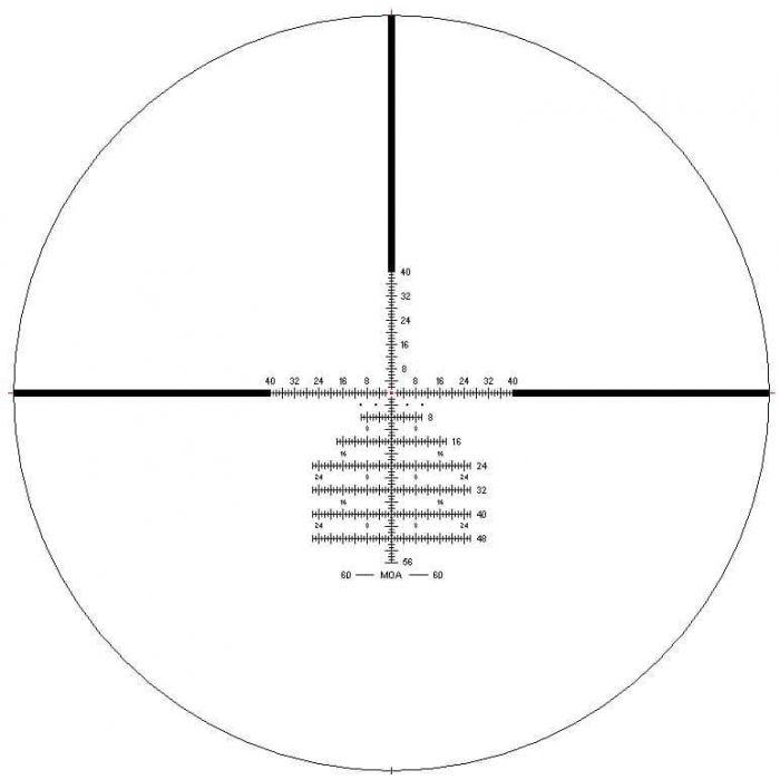 IOR Crusader 2.0 FFP 5-40X56 MIL 0.1 MRAD SF Zero Stop Locking Turret IR  Rifle