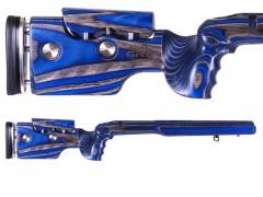 GRS Adjustable Stock, Hybrid Howa M1500 Short Action Right Hand Black/Blue Optics Warehouse