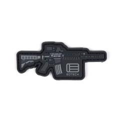 EOTech Logo Rifle Velcro Patch - Black/Grey