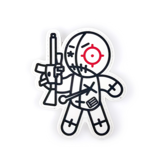 EOTech Vudu Mayhem Doll Velcro Patch - Black/White/Red