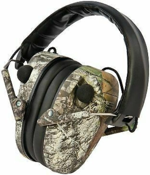 Caldwell E-max Low Profile Electronic Hearing Protection Mossy Oak Break up 85dB