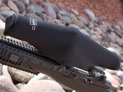 "ScopeCoat Black XP-6 Flak Jacket Large 12.5""x 42mm 6mm Neoprene Scope Cover Protective Jacket"