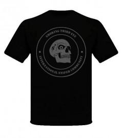 Smoking Third Eye International Sniper Community T-Shirt - Grey on Black