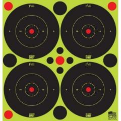 "Pro-Shot 3"" Peel & Stick - Green SplatterShot® Bullseye with Pasters"