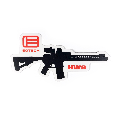 EOTech Logo/HWS Rifle Sticker - Black/White/Red