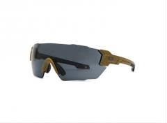 """Blueye Eyewear Velocity Shooting Glasses- Frame - Desert Tan - Lens: Clear and Smoke """"ZEISS LENSES"""""""
