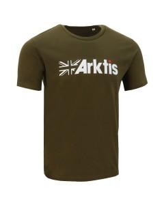 Arktis Flag Logo T-Shirt - Olive Green