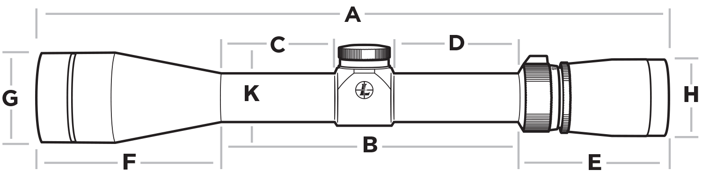 Leupold FX-3 Rifle Scope Diagram